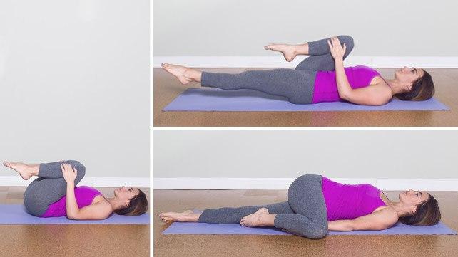 Упражнения йоги после продов