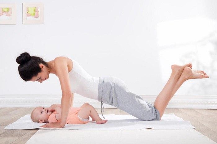 отжимание в йоге после родов